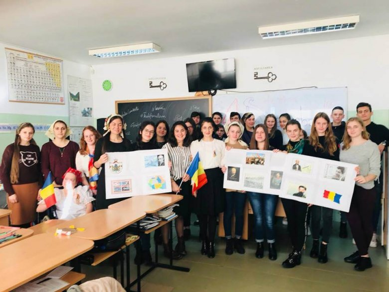 """Proiectul """"Uniti în Centenar"""", clasa a XI-a B, decembrie 2018"""